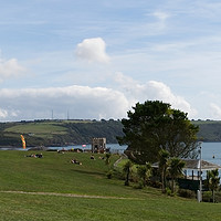 Buy canvas prints of Plymouth Hoe Panorama by Chris Day