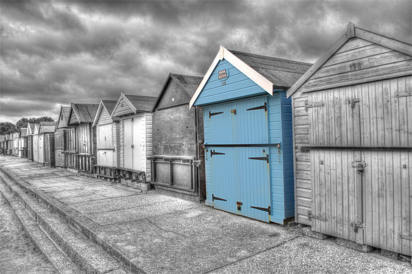 Beach Hut in isolation Canvas Print by Chris Day