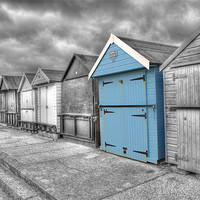 Buy canvas prints of Beach Hut in isolation by Chris Day