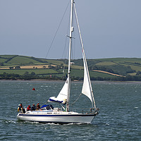 Buy canvas prints of Yacht on the Tamar by Chris Day