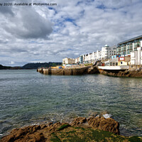 Buy canvas prints of West Hoe Foreshore by Chris Day