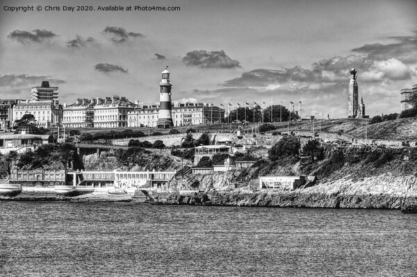 Plymouth Hoe Framed Mounted Print by Chris Day