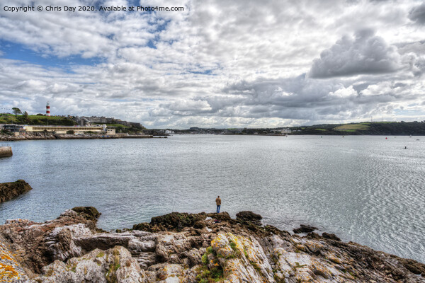 View towards the Plym Framed Mounted Print by Chris Day