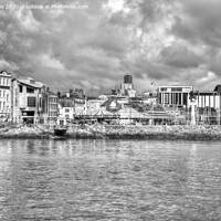 Buy canvas prints of The Barbican and Plymouth Beyond by Chris Day