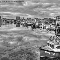 Buy canvas prints of Sutton Harbour Plymouth by Chris Day