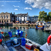Buy canvas prints of Sutton Harbour West by Chris Day