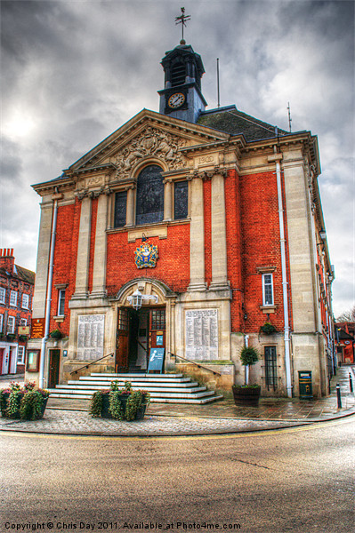 Henley-on-Thames Town Hall Canvas Print by Chris Day