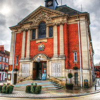 Buy canvas prints of Henley-on-Thames Town Hall by Chris Day