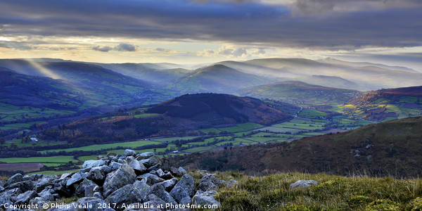 Gateway to the Brecon Beacons. Canvas Print by Philip Veale