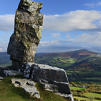 Buy canvas prints of The Lonely Shepherd and Sugar Loaf Mountain. by Philip Veale
