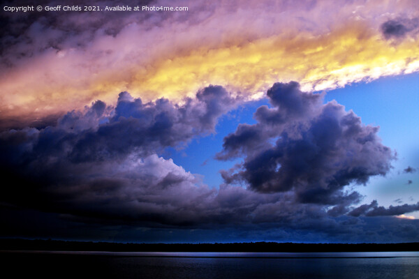 Gray and Gold Storm Cloud. Canvas Print by Geoff Childs
