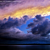Buy canvas prints of Gray and Gold Storm Cloud. by Geoff Childs