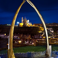 Buy canvas prints of Whitby jawbone arch at twilight. by Chris North