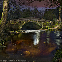 Buy canvas prints of Beckfoot Bridge at night. by Chris North
