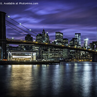 Buy canvas prints of Brooklyn Bridge at Blue Hour by Kevin Ford