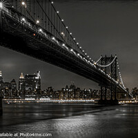 Buy canvas prints of Manhattan Bridge at Night by Kevin Ford