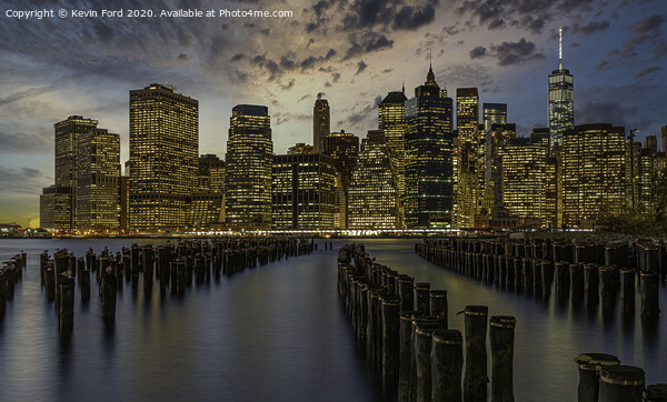 Lower Manhattan just after Sunset Canvas Print by Kevin Ford