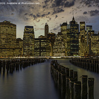 Buy canvas prints of Lower Manhattan just after Sunset by Kevin Ford