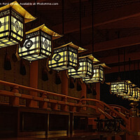 Buy canvas prints of Japanese Lanterns Kyoto Japan by Kevin Ford
