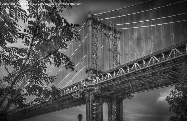 Manhattan Bridge NYC Framed Mounted Print by Kevin Ford