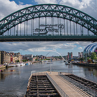 Buy canvas prints of Summer day stroll down Newcastle Quayside by mark james