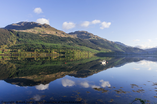 Loch Long Reflections Canvas print by mark james