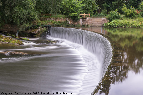 Guyzance Weir on the River Coquet Canvas print by mark james