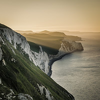 Buy canvas prints of Summer sunrise on the Jurassic Coast in Dorset by Owen Vachell