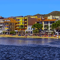 Buy canvas prints of Puerto Pollensa Beach by Lorraine Terry