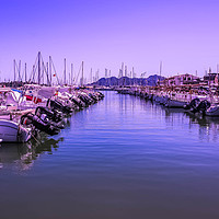Buy canvas prints of Puerto Pollensa Boats by Lorraine Terry