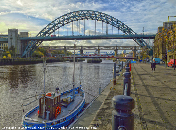 Today at the Quayside Canvas print by antony atkinson