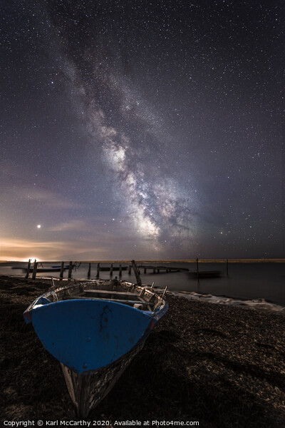Grounded for the Night at Fleet Lagoon , Weymouth Framed Print by Karl McCarthy