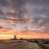 Buy canvas prints of Midwinter Sunrise  -  Tower Windmill  by Jim Key