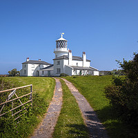 Buy canvas prints of The Lighthouse Caldey Island  by Jim Key