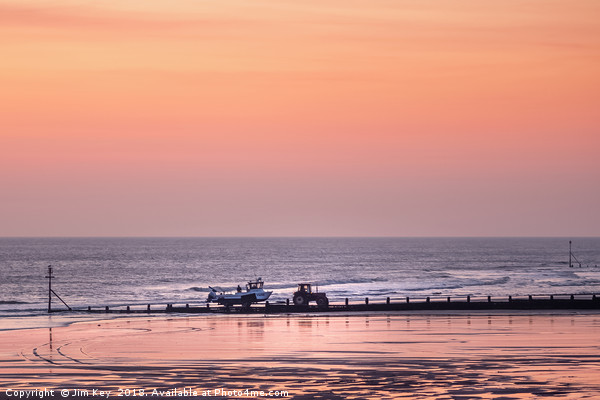 Early Start at Cromer Canvas print by Jim Key