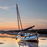 Buy canvas prints of Sunset and a Sailing Boat by Jim Key