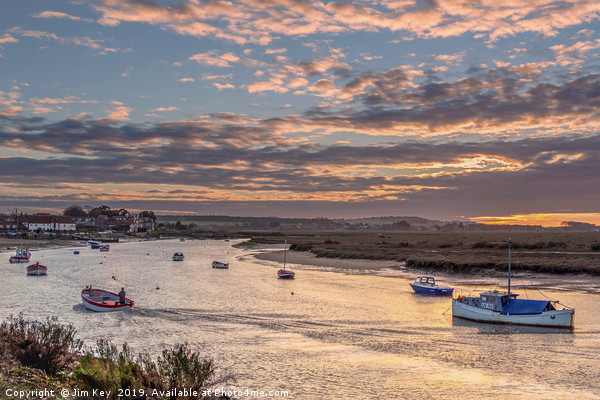 Last Man Home at Burnham Overy Staithe Canvas print by Jim Key