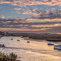 Buy canvas prints of Last Man Home at Burnham Overy Staithe by Jim Key