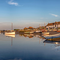 Buy canvas prints of Burnham Overy Staithe Panorama Norfolk by Jim Key