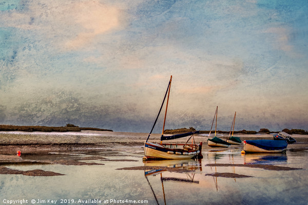Peaceful end of Day  Digtal Art Canvas print by Jim Key