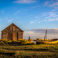 Buy canvas prints of The Coal Barn at Thornham Norfolk by Jim Key