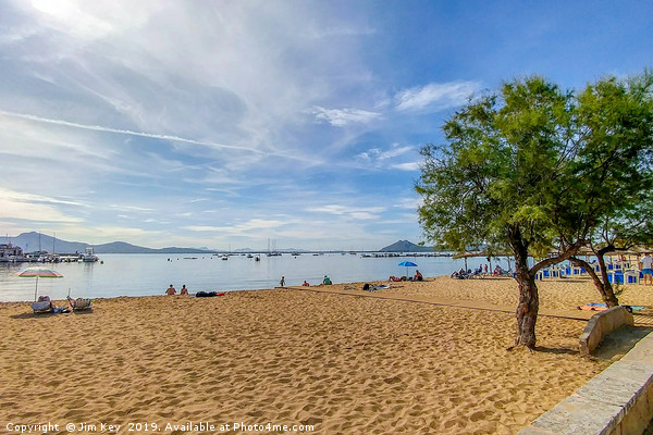 The Beach at Puerto Pollensa Canvas print by Jim Key