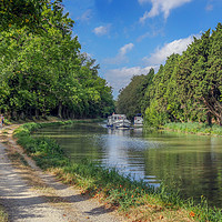 Buy canvas prints of Canal du Midi France by Jim Key