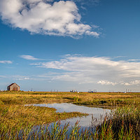 Buy canvas prints of Thornham Creek Norfolk by Jim Key