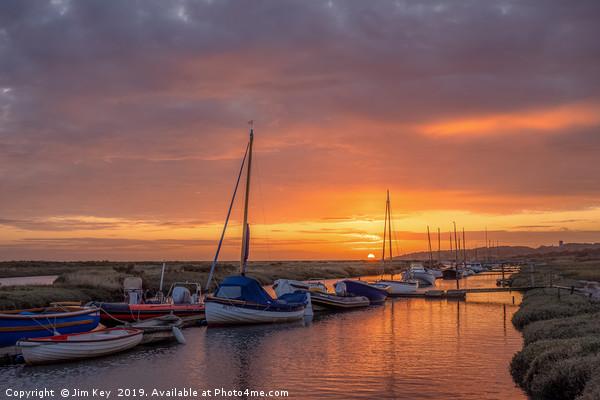 Sunrise at Morston Quay Canvas print by Jim Key