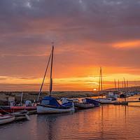 Buy canvas prints of Sunrise at Morston Quay by Jim Key