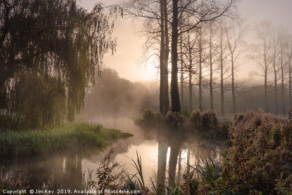 The River Wensum Norfolk Framed Mounted Print by Jim Key