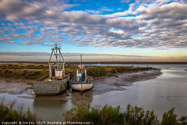 Brancaster Staithe in Winter Canvas print by Jim Key