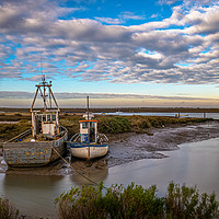 Buy canvas prints of Brancaster Staithe in Winter by Jim Key