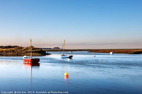 An Ebb Tide at Burnham Overy Canvas print by Jim Key